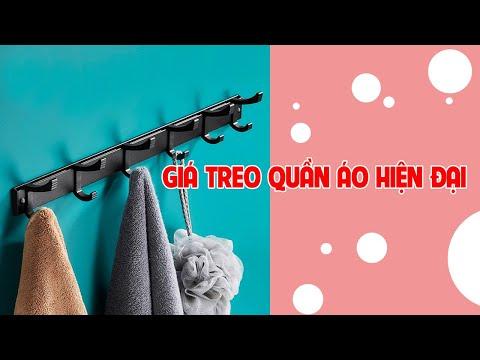 Giá treo quần áo khăn cao cấp dán tường hiện đại