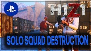 H1Z1 PS4 - CRAZY SOLO SQUADS HIGH KILL GAMEPLAY!