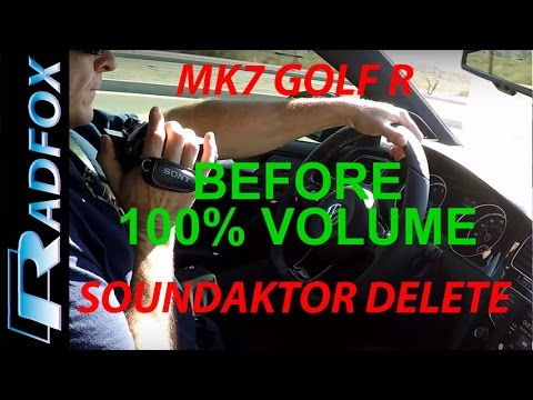 2016 Golf R Soundaktor Disable Before and After