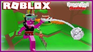 J'ACHETE LES REBIRTHS ! | Roblox Paper Ball Simulator