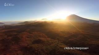 Mt. Fuji filmed with a drone at sunrise / 富士山とすすき 朝霧高原 DJI Phantom2 with GoPro