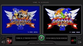 Sonic the Hedgehog 2 (Master System vs Sega Genesis) Side by Side Comparison