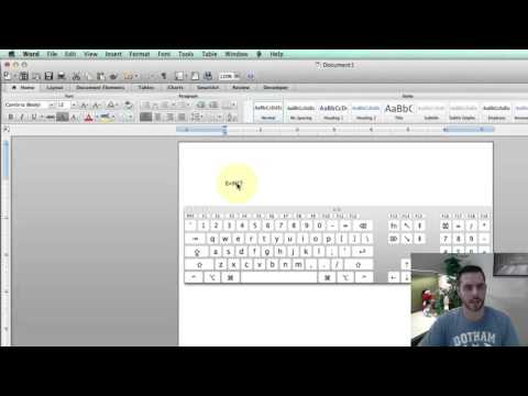How To Type Exponents On A Mac