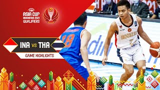 Indonesia - Thailand | Highlights - FIBA Asia Cup 2021 Qualifiers