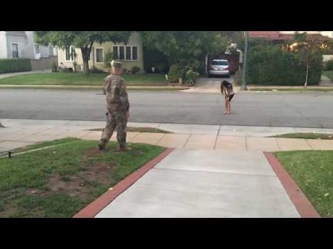 Army Boyfriend Surprises Girlfriend A Month Early!