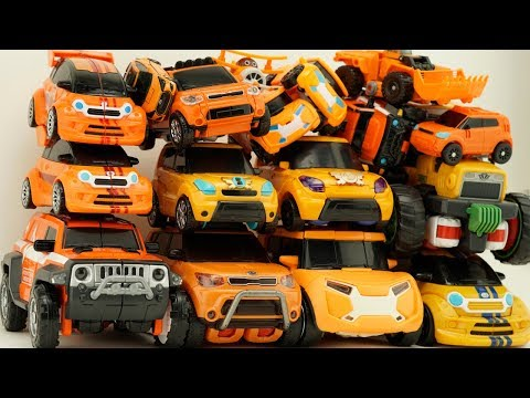 Full Tobot Robot Orange Car Color Transformers Athlon Rocky, Evolution, Tritan Mainan Toys Kids