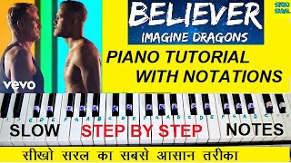 Download lagu Believer - Imagine Dragons Piano Tutorial Step By Step With Notes