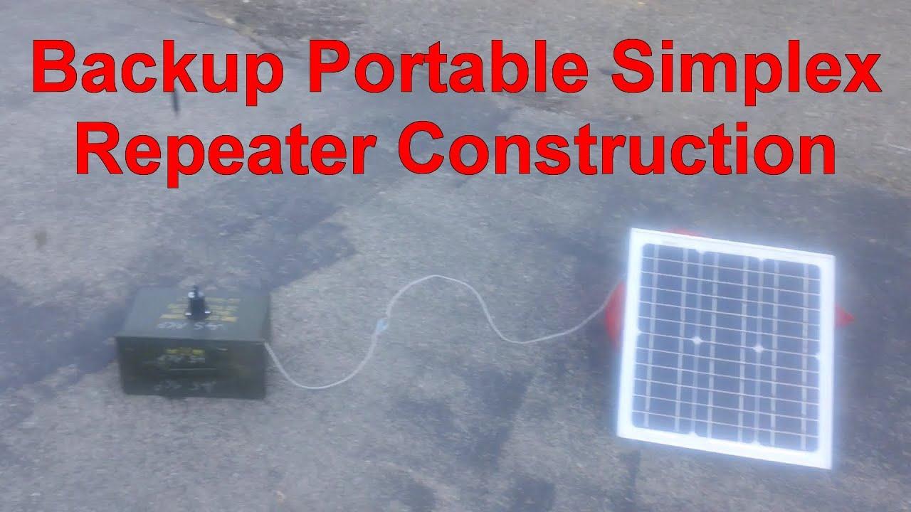 SHTF Backup Portable Simplex Repeater Construction
