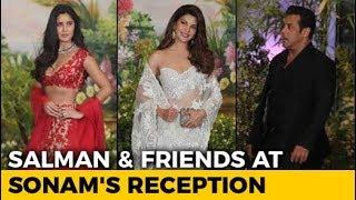 Salman Khan With Katrina Kaif & Jacqueline Fernandez At Sonam's Reception