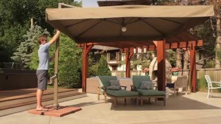 Eclipse Deluxe Patio Umbrella with Lights