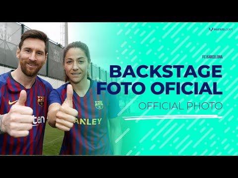 Leo Messi participa en la producción de la foto oficial del FC Barcelona