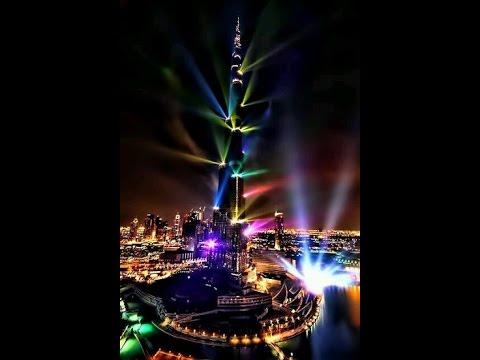 Дубай ОАЭ фото видео. Салют в Дубае.