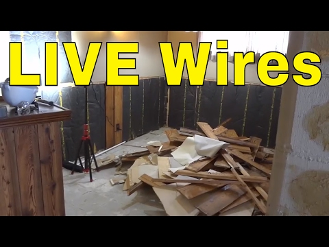Buried LIVE Electrical Wires-Taped Off With Electrical Tape