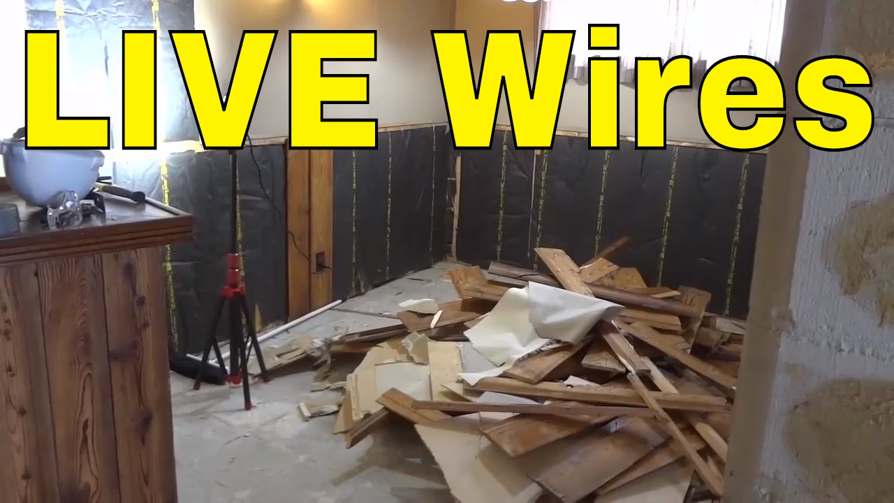 Buried Live Electrical Wires Taped Off With Tape Youtube Wiring A Wall Socket Nz
