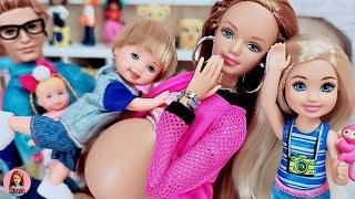바비 인형 임신 출산 병원놀이 토미 화장실에 갇히다 P…