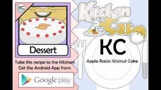 Apple Raisin Walnut Cake - Kitchen Cat