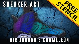 Sneaker Art: Air Jordan 6 Chameleon w/ Downloadable Stencil