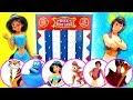 Disney Aladdin Disk Drop Game! W Princess Jasmine, Genie & Jafar