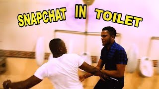 SNAPCHATTING IN TOILET PRANK | Zfancy