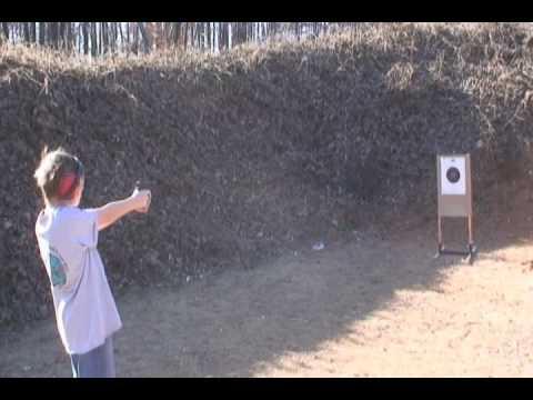 Nathan and Sarah at the range in North Carolina