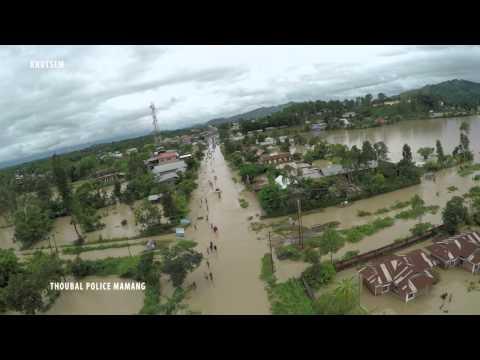 Aerial Footage of Thoubal Flood 2015