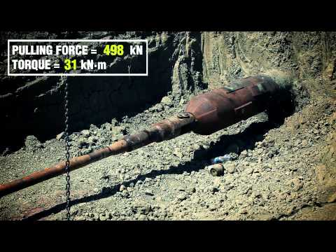 Trenchless Pipeline Removal (TPR) -- Field Test August 2013