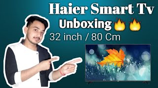 Haier 32 inch LED TV LE32K6500AG UNBOXING and REVIEW