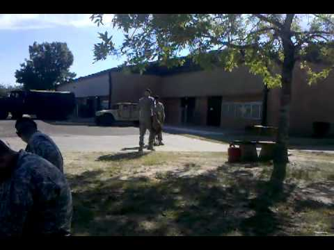 Soldier being stupid at Fort Polk, LA