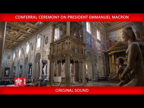Conferral Ceremony on President Emmanuel Macron 2018-06-26