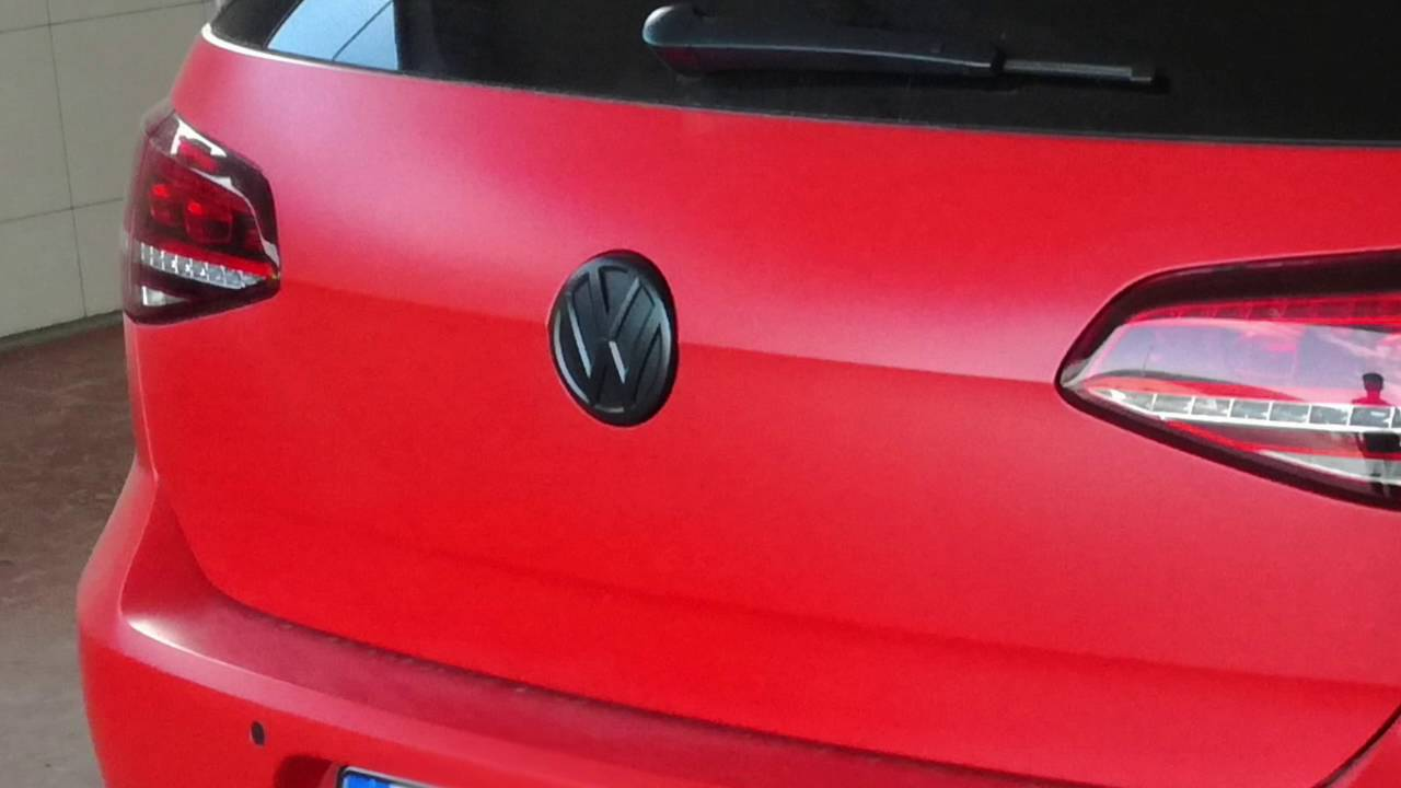 VolksWagen Golf GTI red mat wrapping