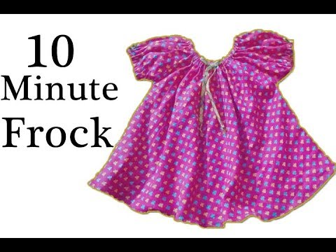 5d5dbddd3 Simple baby frock cutting and stitching in 10 minutes - YouTube
