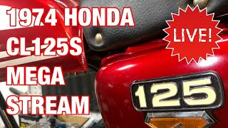The 1974 Honda CL125S Scrambler Party Continues! Motorcycle Restoration Live Stream