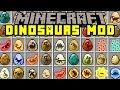 Minecraft DINOSAURS MOD!   T-REX, SPINOSAURUS, INDOMINUS REX, & MORE!   Modded Mini-Game
