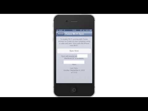 How to Sync iPhone or iPad over Wi Fi