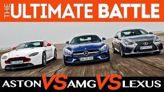 Mercedes-AMG GT S vs Aston N430 vs Lexus RC F (by YouCar & Option Auto)