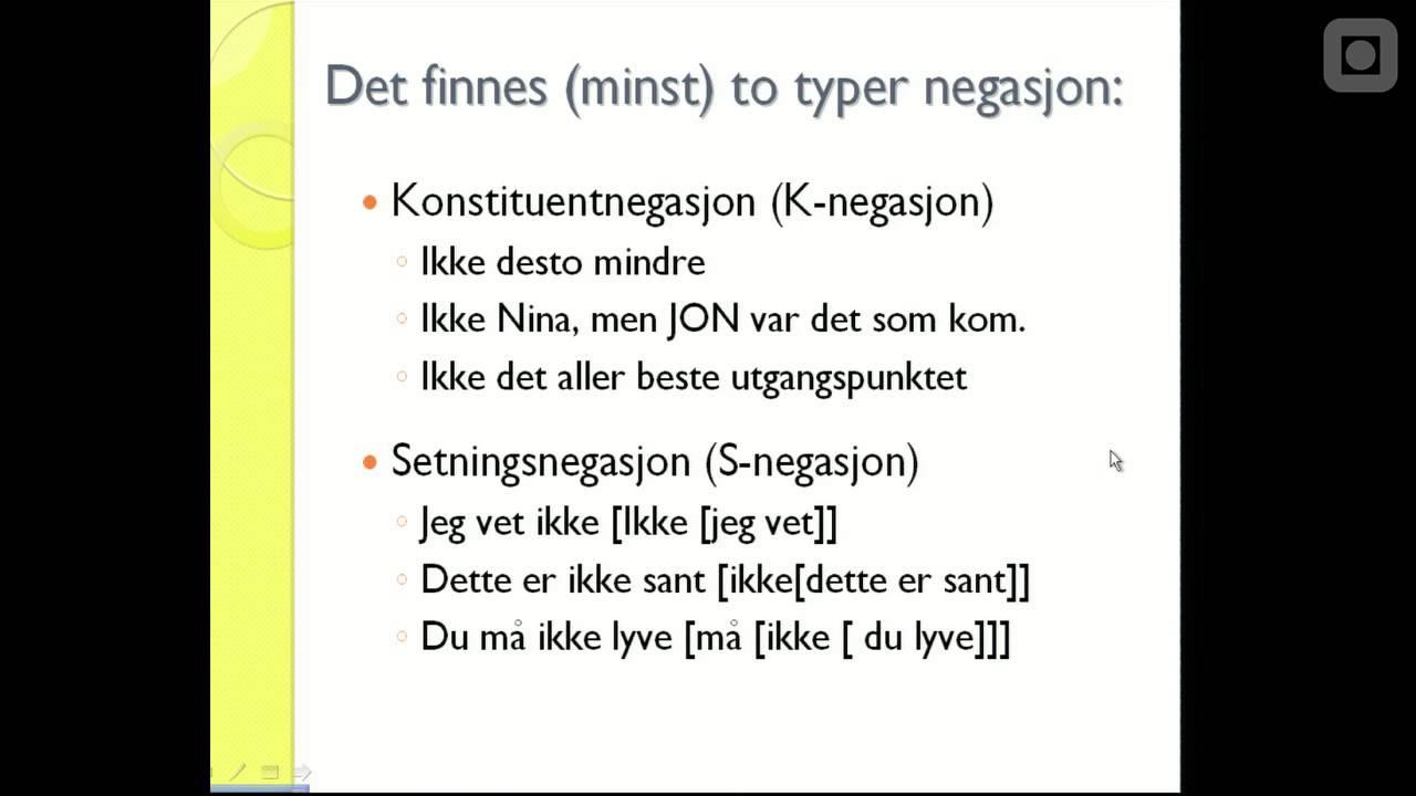 Norsk og engelsk 2: Språk i negasjon