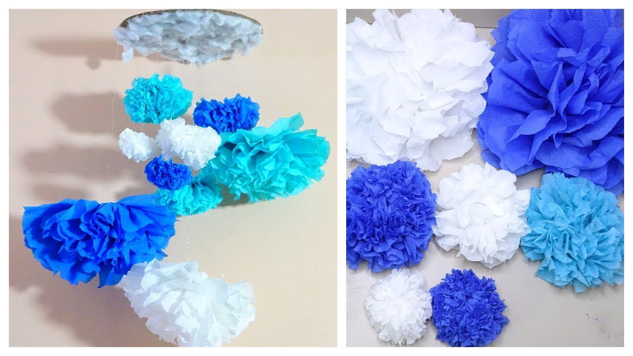 Diy with tissue paper diy tissue paper flower wall hanging youtube diy with tissue paper diy tissue paper flower wall hanging mightylinksfo