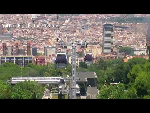 Montjuïc cable car - Beautiful places of Barcelona Spain