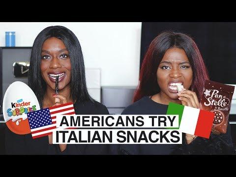 RAGAZZE AMERICANE PROVANO LE MERENDE ITALIANE IN ...ITALIANO