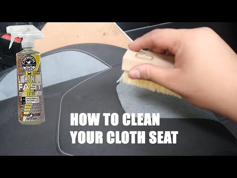 How to clean your dirty cloth seat