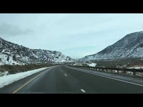 Scenic winter drive from Moab to Denver!