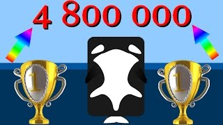 Deeeep io Top 1 in world leaderboard || 4 800 000+ with the last animal ||  Orca time