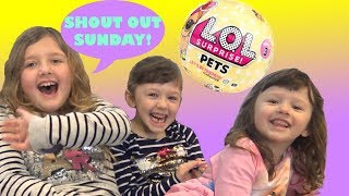 HIDE AND SEEK with LOL Surprise and Ava Isla Olivia plus Shout Out Sunday