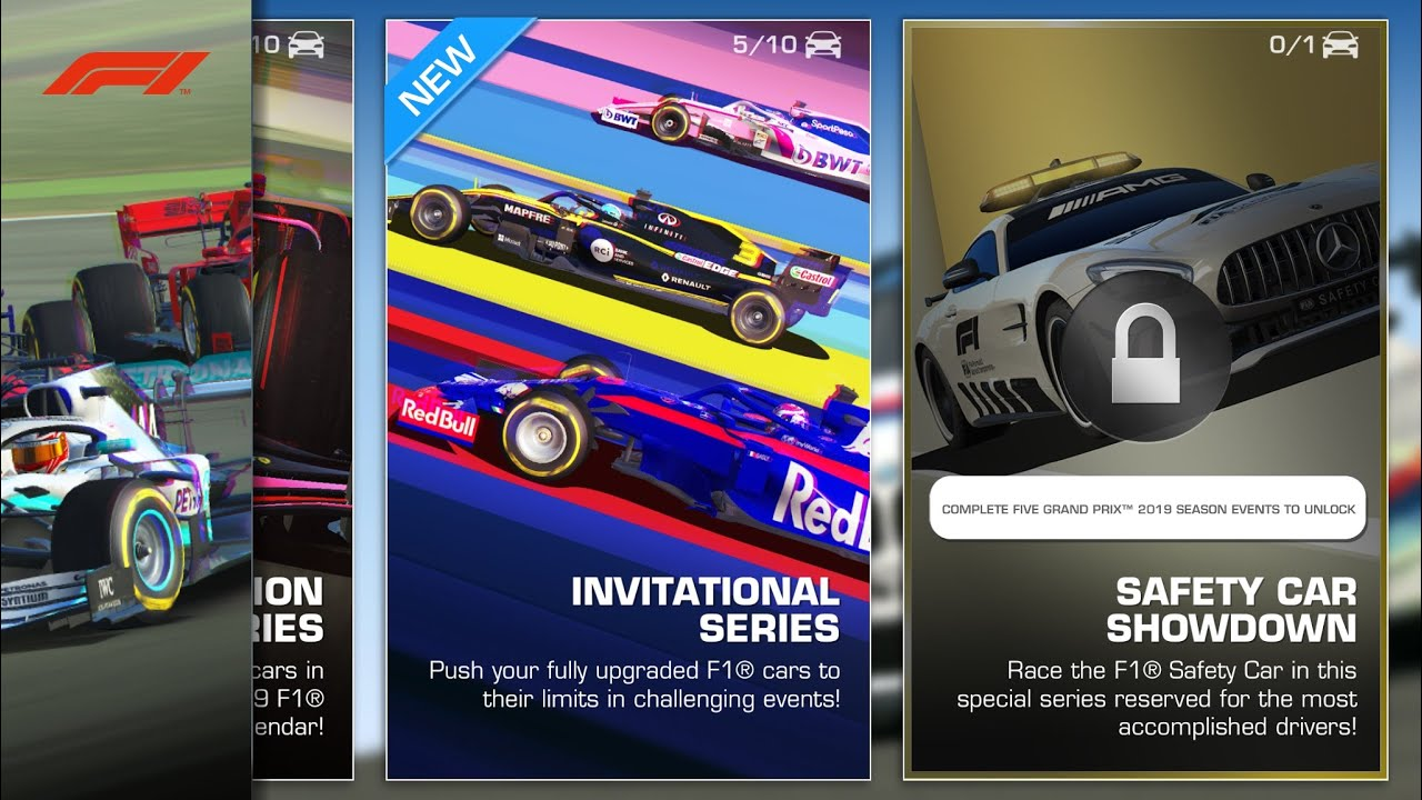 Real Racing 3 Formula 1® Invitational Series Overview
