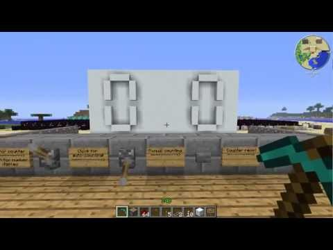 how to make a 7 segment display minecraft