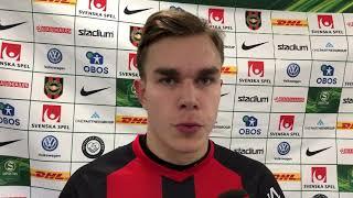 Dusan Jajic efter matchen mot GAIS