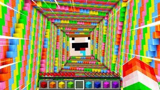 WORLD'S HAPPIEST RAINBOW DROPPER MINECRAFT!