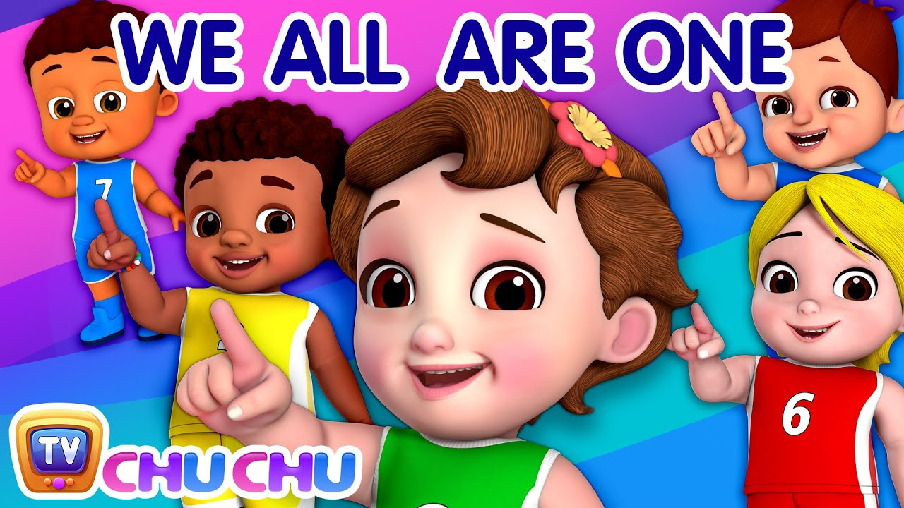 Black or White, We All Are One - ChuChu TV Nursery Rhymes & Kids Songs