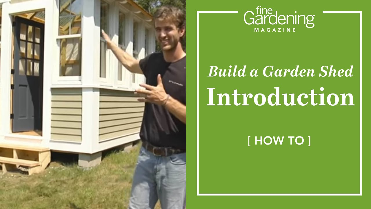 how to build a garden shed youtube
