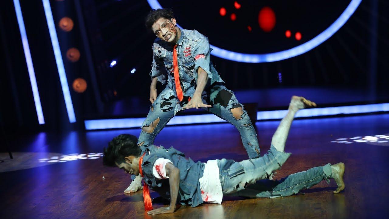 Download D4 Junior Vs Senior I Vaisakh's Zombie Performance  I Mazhavil Manorama